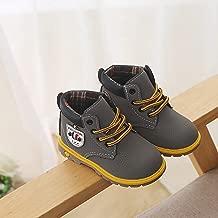 أحذية Martin للأطفال عصرية دافئة للأطفال الأولاد والبنات من الجلد والخريف والشتاء أحذية طويلة حتى الكاحل للأطفال