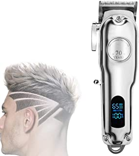 Cordless Hair Clippers, Mens Hair Clippers, Stainless Steel Cutter Head, Sharp and Wear-Resistant, Adjustable In 4 Levels,...