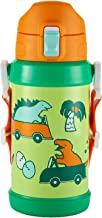 Reach Will 魔法瓶 きょうりゅうドライブ 水筒 ( 600ml / 真空断熱 ) ワンタッチ キッズボトル 子供 ( 保冷 専用 / ベルト付き / 軽量 ) 男の子 女の子