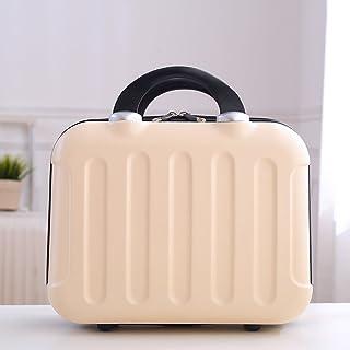 Cosmetic bag large-capacity portable travel cosmetic bag cosmetic box storage box cute portable makeup box travel bag ( Color : Orange )