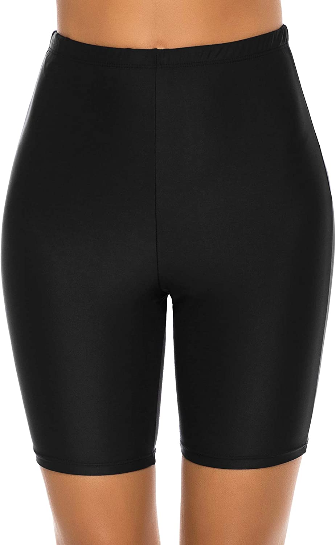 Lecieldusoir Women's Swim Shorts High Waist Swimsuit Bottoms Bikini Bathing Suit Board Shorts
