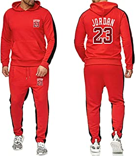 سترة رياضية للجنسين 23 # Jordan بلوفر الأداء سترة رياضية لكرة السلة مجموعة سراويل الركض بناطيل الركض