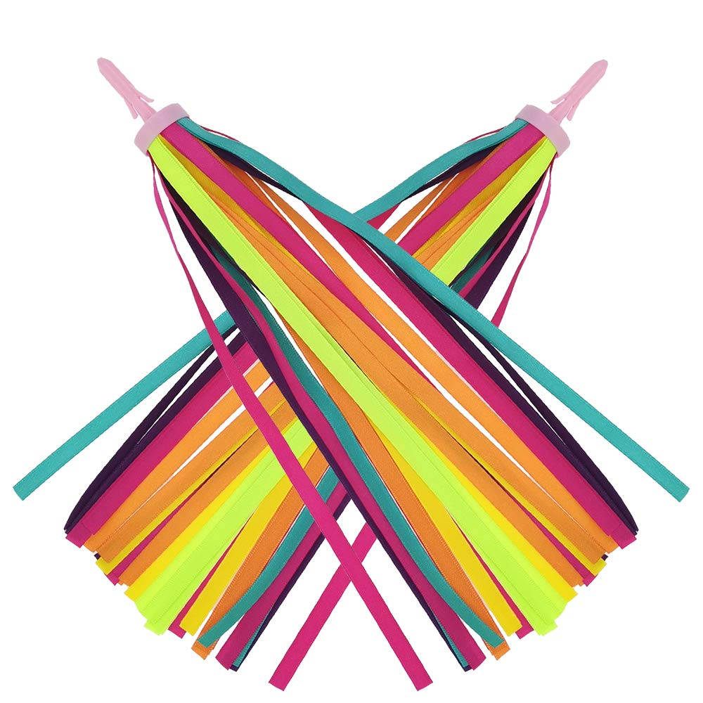 SM SunniMix Kinder Streamers B/ändchen Quaste mit Kinderfahrrad Griffe 20mm Kinderfahrradgriffe Roller Lenkergriffe