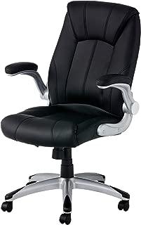 オフィスコム 社長椅子 オフィスチェア パソコンチェア 可動ひじ付き 肉厚座面 ハイバック レクアス ブラック LEQUAS-BK2