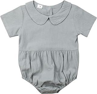 الوليد الطفل الصيف السروال القصير ملابس طفلة بلون كشكش بذلة الملابس 0-18 أشهر (Color : Blue, Kid Size : 18M)