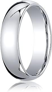 Men's Platinum 6mm Slightly Domed Standard Comfort Fit Wedding Band Ring