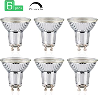 GU10 LED Bulbs, 6W LED Candelabra Bulb 50 Watt Equivalent, 450lm, Decorative Candle Base GU10 Dimmable LED Bulbs, Cool White 5000K LED Lamp, Pack of 6