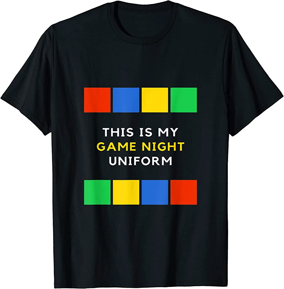 This is My Game Night Uniform - Pyjama for True Gamers T-Shirt