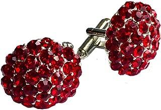 Clinks Cufflinks Mens Crystal Cluster Cufflinks - Red