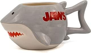 Jaws JW13063D Shark Ceramic 3D Sculpted Mug, 20-ounces, Grey