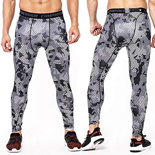 Base Layer Sport Pants Men's Pro Compression Pants sneldrogend Tights hoge elasticiteit Training Pants Fitness Running Yoga Broeken,H,M