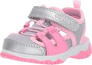 Carter's Girls' Sunny Athletic Fisherman Sandal, Silver, 9 M US Toddler