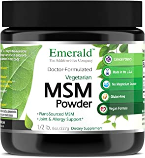 MSM Powder 4,000 mg - Joint Support for Aches & Pains, Anti-Inflammatory, Stress Relief, Supports Digestive System, Allergy Relief - Emerald Laboratories (Ultra Botanicals) - 8 oz