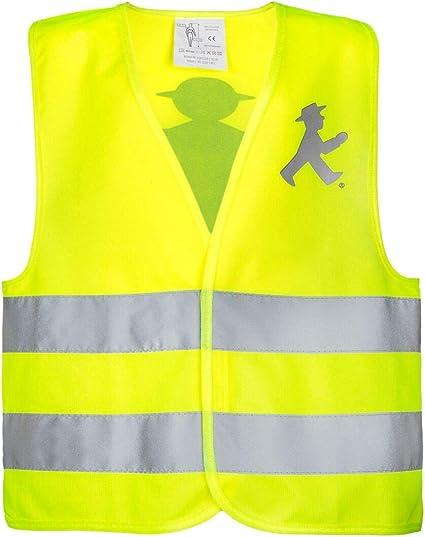 Ampelmann Lotse Warnweste Für Erwachsene Reflektierend In Signal Gelb Für Den Straßenverkehr L Auto