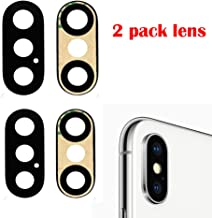 2 Pack Afeax Compatible Back Rear Camera Lens Glass Replacement Part for iPhone X