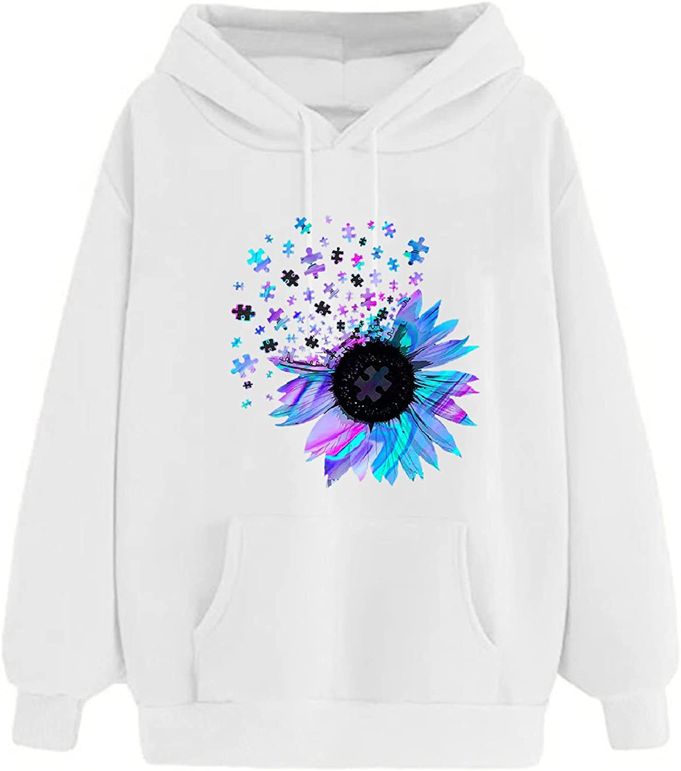 VonVonCo Pullover Sweaters for Women Cartoon Print Plus Size Long Sleeve Wear A Hat Sweatshirt Pullover Top Blouses