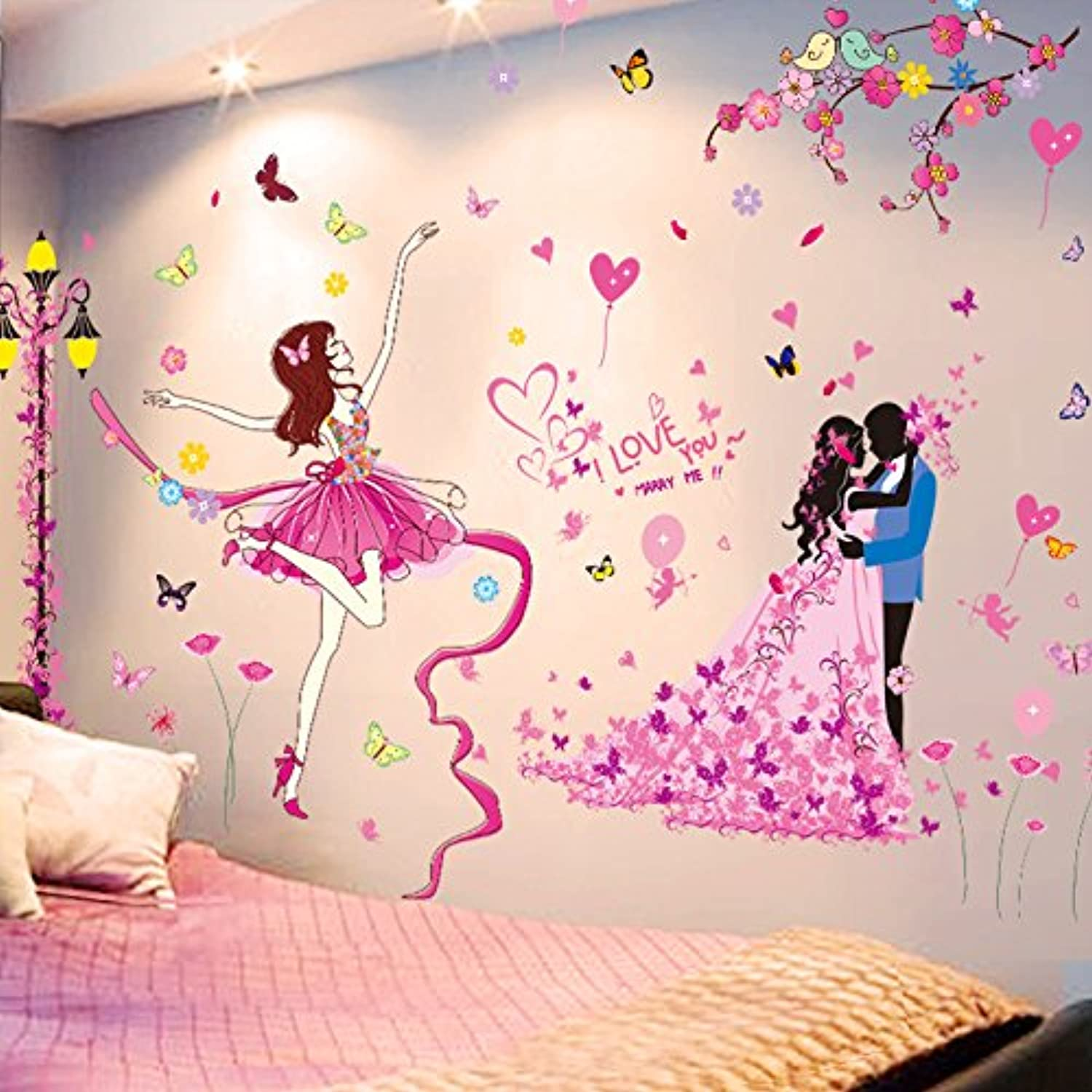 Znzbzt A Warm Wall Sticker Marriage Room self Adhesive Wallpaper Room Background Wall Decoration, Wall Paper Posters