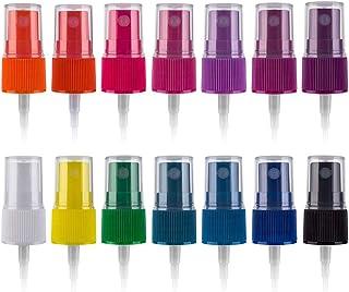 Essential Oil Spray Bottle Tops, Fine Mist Sprayer for 5ml and 15ml EO Bottles, Pack of 14, Rainbow