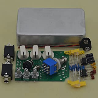 TTONE DIY Overdrive Guitar Effects Pedal True Bypass Stompbox Pedals OD2 Kits Aluminum Enclosure Unfinished(NO HOLES)