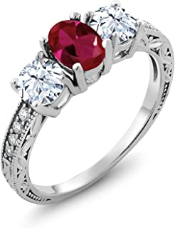 Best silver ring with red stone Reviews