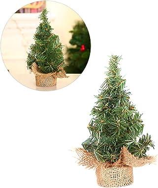 Hihey Árbol de navidad artificial 20cm / 30cm Árbol de navidad Árbol de navidad abeto, plástico, verde