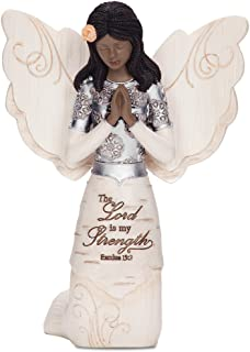 large black angel figurines
