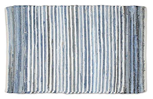 DII Chindi Collection Handmade Rag Rug, Colors May Vary, 4 x 6, Denim, 1 Piece