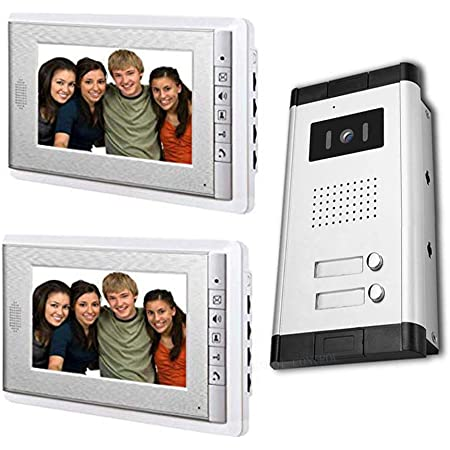 """18 Details about  /Apartment Home Security Video Intercom System Kit with 7/"""" Color Monitor"""