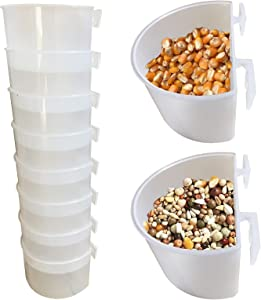 Pigeon Feeder Bird Feed Cup Cage Food Dish Cup for Bird Pigeon Parrot Rabbit Chicken Duck Poultry Water Feeder
