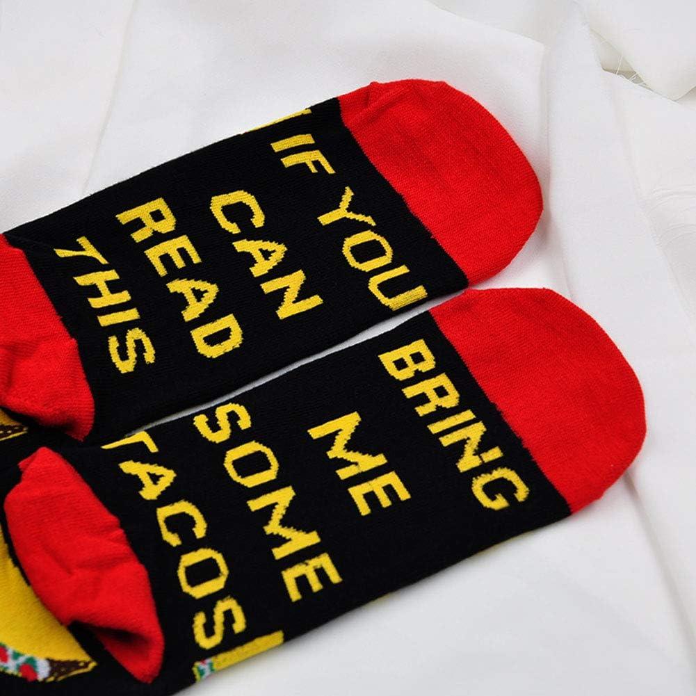 Chaussettes amusantes pour homme et femme en coton Inscription If You Can Read This Bring Me Wine Tea Beer Coffee Socks