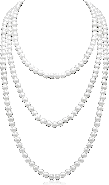 Basrdis Fashion Faux Pearls Necklace Excellent Long Necklaces Pearl 1920s famous