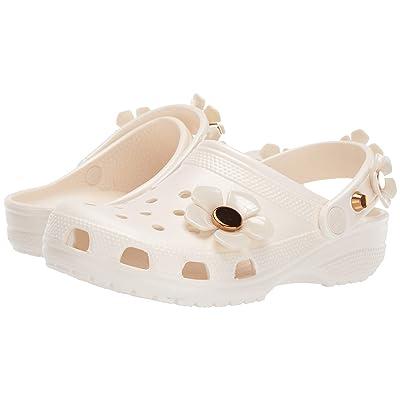 Crocs Classic Metallic Blooms Clog (Oyster) Clog/Mule Shoes