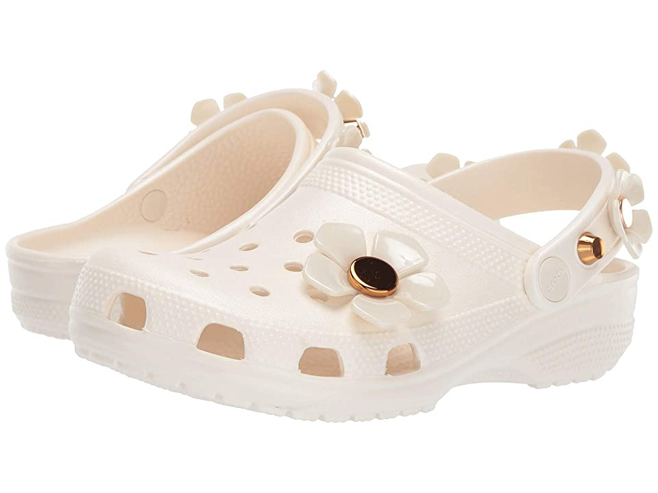 Crocs Classic Metallic Blooms Clog (Oyster) Clog/Mule Shoes