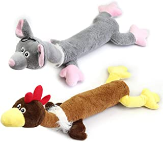 Dog Squeak Toy,Dog Stuffed Plush Toy 2 Pack Durable Chew Toy for Big Medium Small Dogs