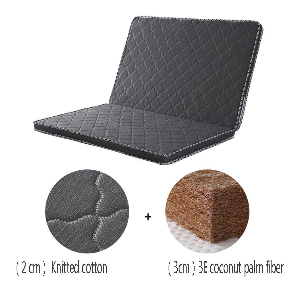 Coir Mattress, 3e Coconut Palm Hypoallergenic Orthopedic Mattress Pad 5cm  Folding Sleeping Mat Firm Feel Quiet Tatami Guest Bed-Black  80x190cm(31x75inch)- Buy Online in India at desertcart.in. ProductId :  207162677.