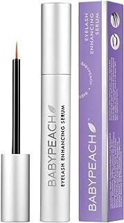BABYPEACH Eyelash Growth Serum, Natural Eyebrow Enhancer with Biotin for Longer, Thicker, Lustrous Lashes & Brows- 5 ML/0....