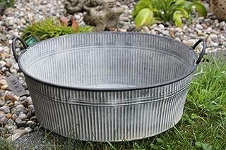 L 30/cm zinco vaso con manici vasca per bepflanzung Krenz Piccola vasca in zinco