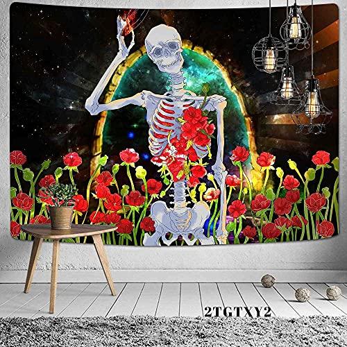 Colchoneta de yoga Tapiz cómodo y agradable para la piel Símbolo místico Escena vikinga Cráneo de dragón Lienzo colgante para dormitorio Decorar la vida del hogar 180x230cm / XL