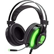 JINDUN Gaming Headset with Noise... JINDUN Gaming Headset with Noise Cancelling Microphone and LED Light, 7.1 Surround Headphone with...