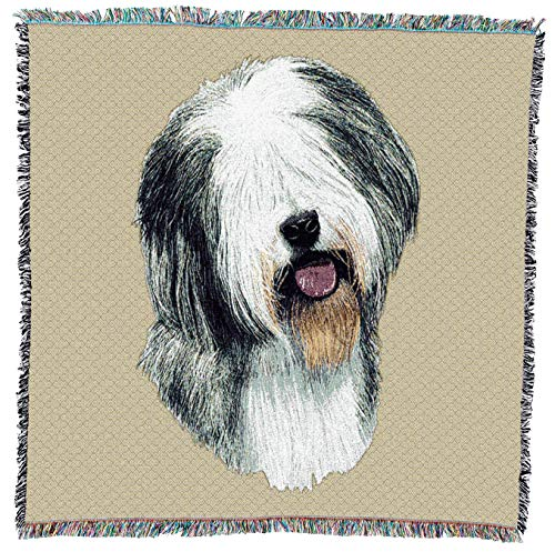 Pure Country 1149-ls Old English Schaf Pet Decke, Hunde auf beige Hintergrund, 54von 137