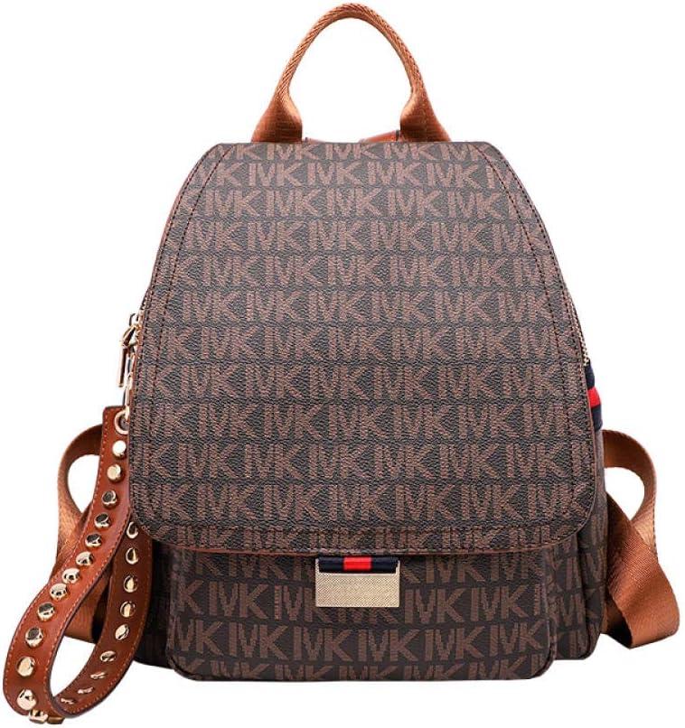 ZYSAJK Leather Backpack Women's Fashion Large Capacity Women's Bag Versatile Travel Backpack Fashion Women Backpack