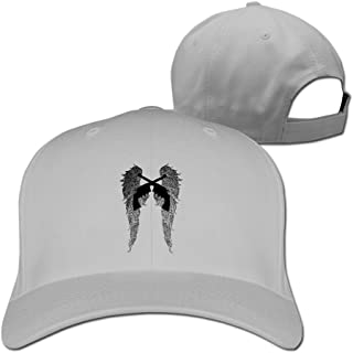 Angel Wings Pistols Tucked Adjustable Baseball Caps Ash