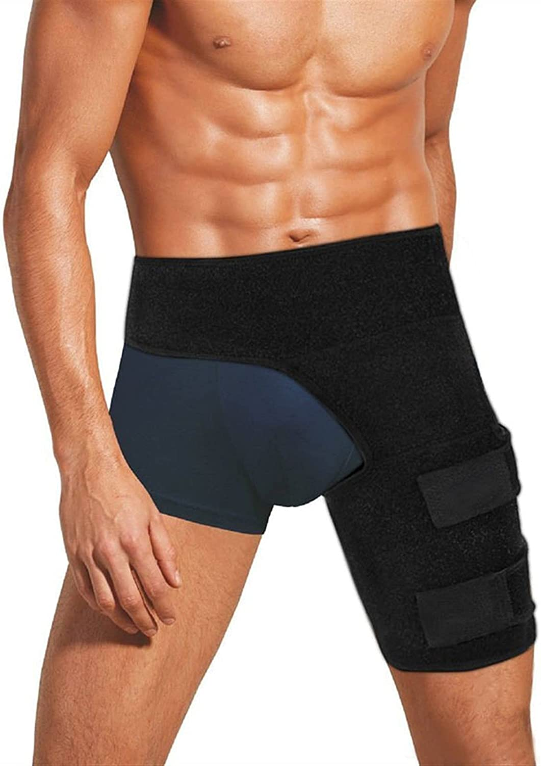 Hip Brace New Adjustable Groin Recovery OFFicial site Wrap Support Hamstring Mesa Mall