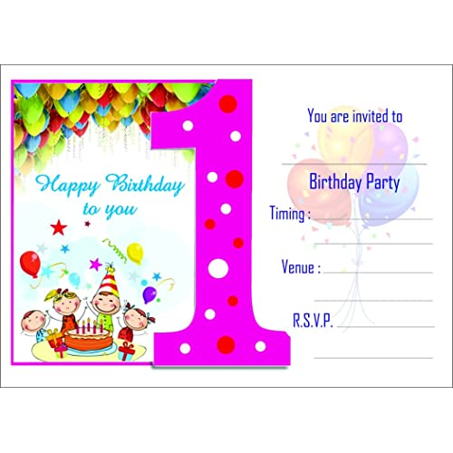 Birthday Invitation Card On Metallic Sheet Pack Of 50 Cards NBC 001