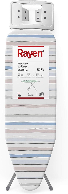 Rayen Tabla de Planchar Basic, Rayas, 120 x 38 cm