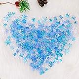 HOWAF 500 Stück Weihnachten Schneeflocken Konfetti, Weihnachten Winter deko Blau und Weiß Schneeflocken Streudeko Schneeflocken Konfetti Tischdeko, Hochzeit, Geburtstag, Weihnachts Dekorationen - 6