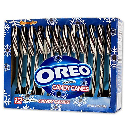 Oreo Flavored Candy Canes - 2 PACK