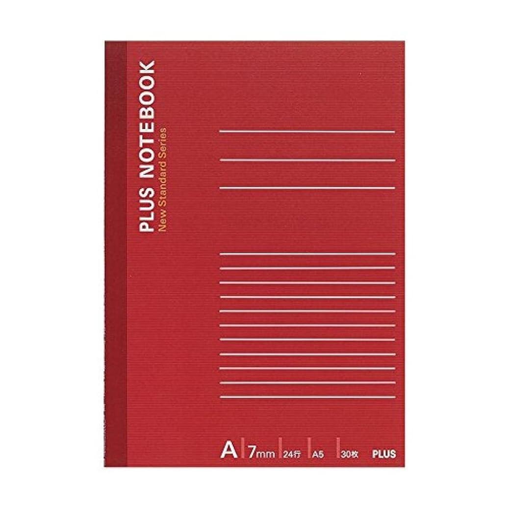 (まとめ買い)プラス ノートブック NO-103AS A5 A罫 【×50セット】