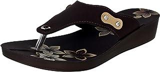 inblu Women's 91J3 Red-Black Fashion Slippers