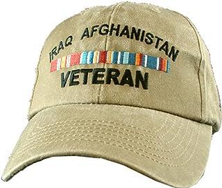 Eagle Crest Iraq Afghanistan Veteran Khaki Military Baseball Cap